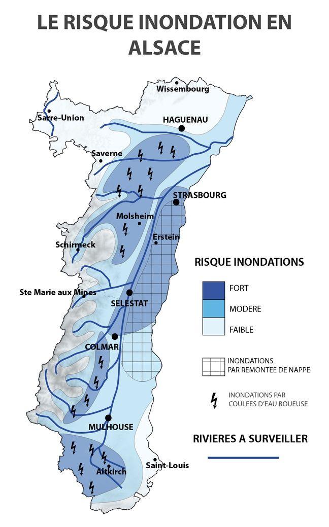 Une carte régionale de prévisions locales des risques fournie par Atmo-Risk.