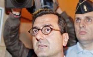 Imad Lahoud au Palais de Justice.