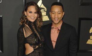 Chrissy Teigen et John Legend aux Grammy Awards