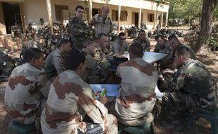 Les troupes française pendant l'opération Serval au Mali, le 14 janvier 2013