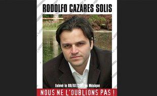 Rodolfo Cazares, franco-mexicain, a été enlevé au Mexique le 9 juillet 2011.