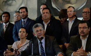 Le président de l'Assemblée vénézuélienne, Henry Ramos Allup, à Caracas le 2 mars 2016
