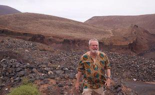 Le réalisateur Terry Gilliam dans les décors de son film «L'homme qui tua Don Quichotte».