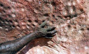 Des gravures vieilles de 60.000 ans à Jinmium, en Australie.