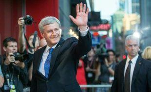 Le Premier ministre conservateur, Stephen Harper, juste avant un débat électoral, à Toronto le 6 août 2015