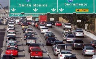 Embouteillages dans la région de Los Angeles.