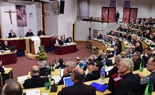 La Conférence des évêques de France à Lourdes, en 2014.