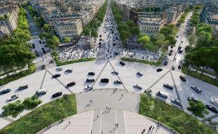 Illustration du projet de rénovation des Champs-Elysées porté par le comité.