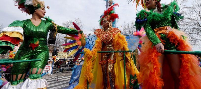 Le carnaval de Rijeka en Croatie, le 23 février 2020.