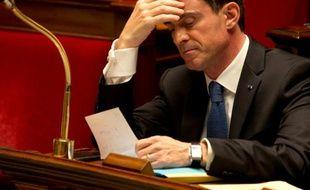 Le Premier ministre Manuel Valls à l'Assemblée Nationale, le 1er décembre 2015