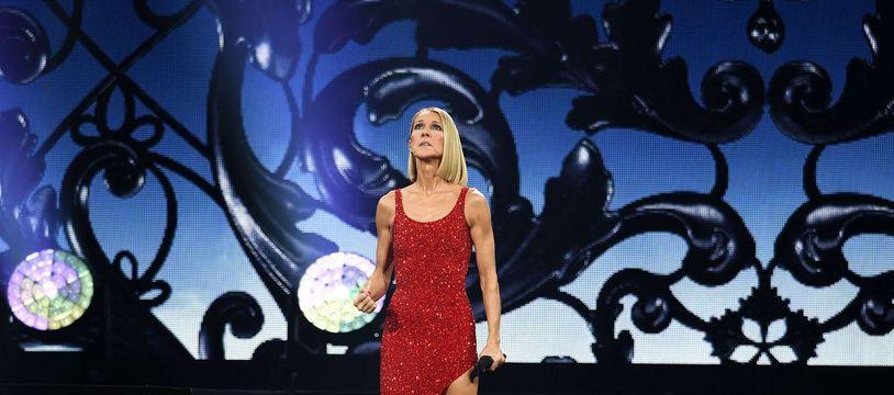 Céline Dion en concert à Miami.