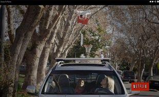 La fausse pub de Netflix qui parodie les drones d'Amazon.