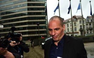 Yanis Varoufakis, ministre grec des Finances, se rend à la Commission européenne, le 5 mai 2015 à Bruxelles
