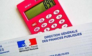 Une feuille d'impôts. Illustration.
