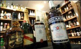 Le rayon alcool d'un magasin (photo d'illustration)