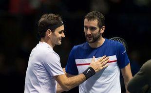 Federer et Cilic ont été adversaires au Masters de Londres.