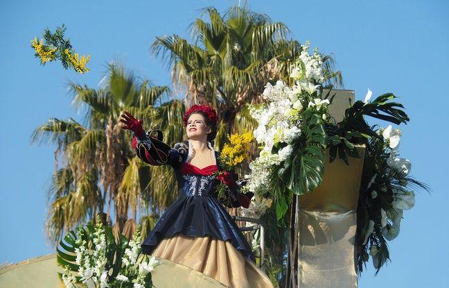 La reine du Carnaval de Nice 2019 participe à sa première bataille des fleurs