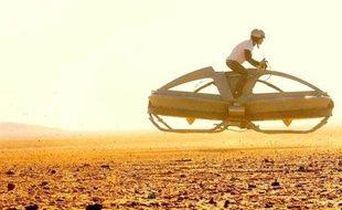 La «moto volante» des Californiens de Aerofex, en phase de test, en août 2012.