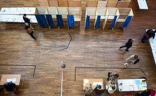 Illustration des élections municipales en temps de coronavirus, ici à Lyon lors du premier tour.