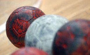 Des ballons de handball (illustration).
