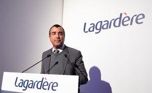 Arnaud Lagardere à Paris le 13 mars 2019