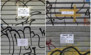 Des magasins du quartier chinois de Rome fermés pour «raisons personnelles», le 11 mai 2011.