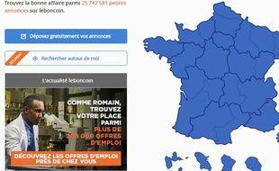 Capture d'écran du site Le Bon Coin.