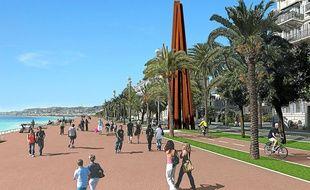 Le projet de la ville prévoit un espace piéton de 20 m de large (Illustration).