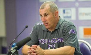 Alain Casanova, l'entraîneur du TFC, le 13 août 2011, à Toulouse.