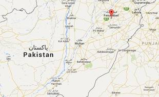 Localisation de Faisalabad au Pakistan.