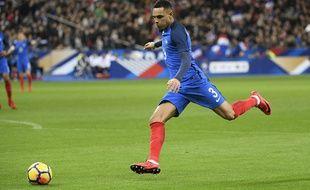Layvin Kurzawa lors de France-pays de Galles, le 10 novembre 2017 au Stade de France.