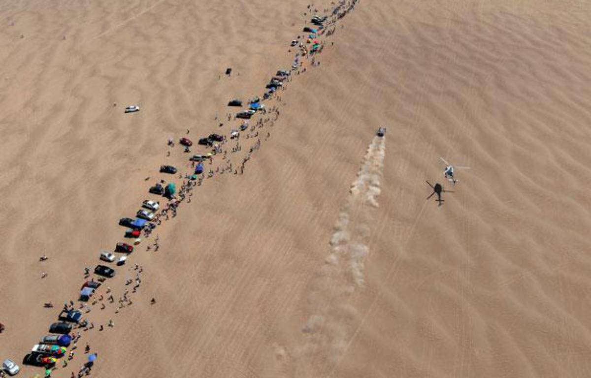 Deux personnes sont mortes au Pérou lors de ce Dakar 2013. – Frederic LE FLOC'H / POOL / AFP
