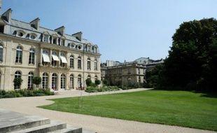 Le palais de l'Elysée, le 1er août 2014 à Paris