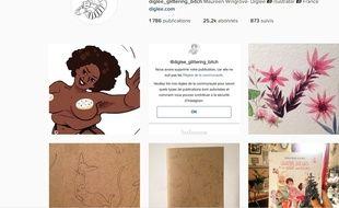 Capture d'écran du compte Instagram de la dessinatrice Diglee