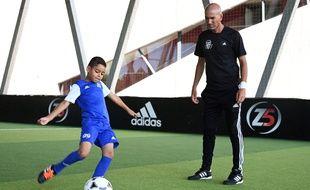 Zinédine Zidane lors du lancement du Zidane Five Club, à Aix-en-Provence.