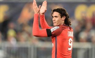 Edinson Cavani a marqué le 2e but du PSG face à Bordeaux, mardi 24 janvier.