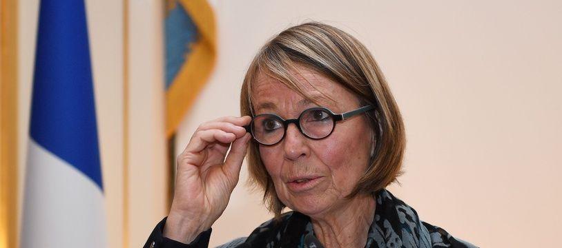 La ministre de la Culture, Françoise Nyssen, le  23 janvier 2018.  / AFP PHOTO / Eric FEFERBERG