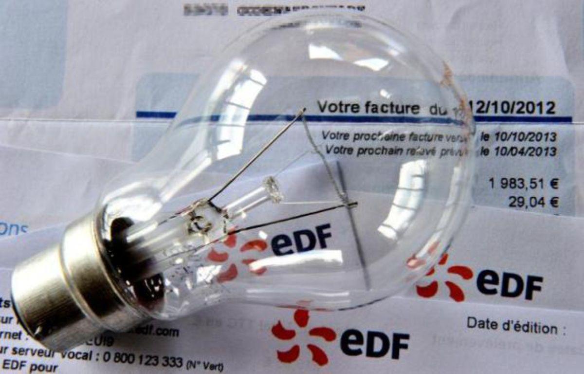 Une facture EDF – Philippe Huguen AFP