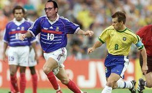 François Hollande en Zizou, 1998.