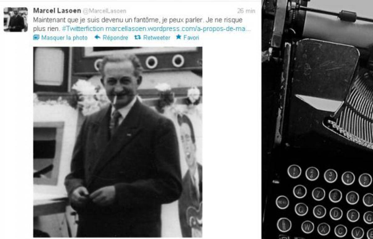 Le compte de @MarcelLasoen, personnage inventé par Marc Capelle, l'un des participants du Festival mondial de fiction qui se déroule du 28novembre au 2 décembre sur Twitter .    – Twitter