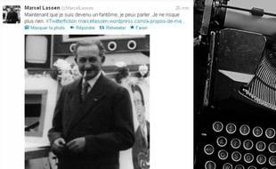 Le compte de @MarcelLasoen, personnage inventé par Marc Capelle, l'un des participants du Festival mondial de fiction qui se déroule du 28novembre au 2 décembre sur Twitter .
