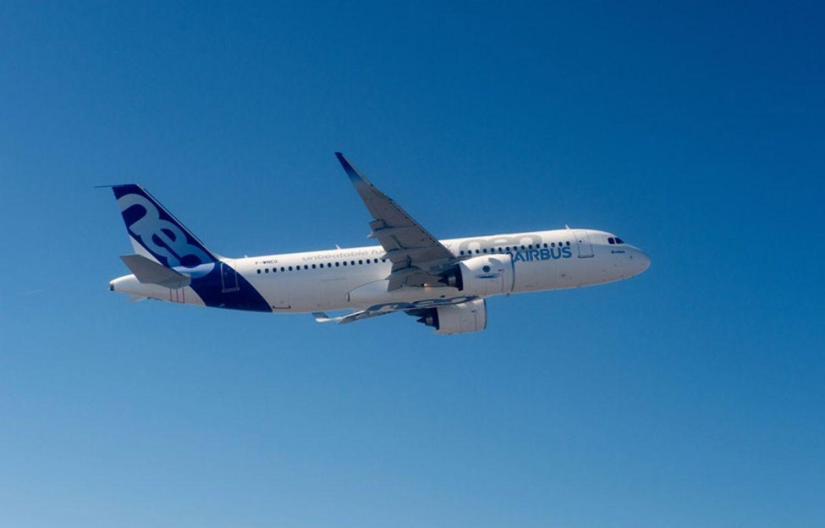 Un A320neo du constructeur européen Airbus. – A. Doumenjou/Masterfilms/Airbus