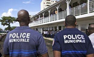 Des policiers dans la commune la commune de Schoelcher, en Martinique - Illustration