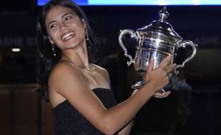La jeune Britannique Emma Raducanu, 18 ans, a remporté l'US Open le 11 septembre 2021.