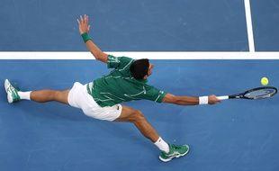 Novak Djokovic est opposé à Roger Federer en demi-finale de l'Open d'Australie, le 30 janvier 2020.