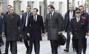 Emmanuel Macron et Christophe Castaner le 2 décembre 2018 à Paris.
