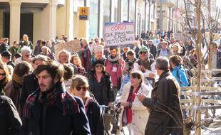 Des manifestants participent à la marche pour le climat à Toulouse, le 29 novembre 2015.