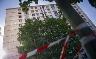 L'immeuble d'où un enfant de 3 ans est décédé après avoir chuté du 6e étage, lele 18 avril 2011 à Ivry-sur-Seine.