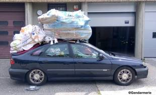 Le véhicule avec une surhcrge de 400 kilos