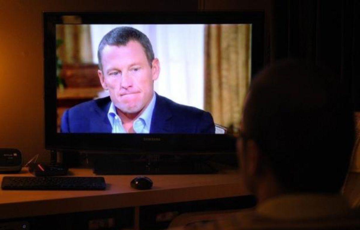 Les aveux de Lance Armstrong sur le plateau télévisé d'Oprah Winfrey, aux Etats-Unis, le 17 janvier 2013. – Mandel Ngan afp.com